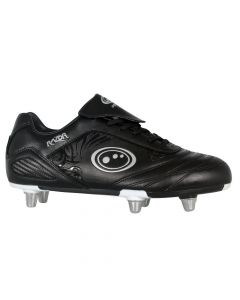 Optimum Sports Razor Pro Performance Junior Rugby & Football Boots - Black/Silver