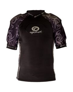 Optimum Sports Razor Removable Padding Protective Lycra Rugby Top - Black/Silver
