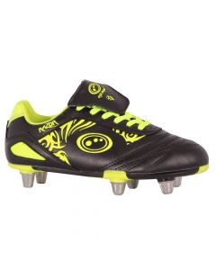 Optimum Sports Razor Light Synthetic Rugby And Football Stud Boots - Black/Yellow