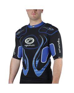 Optimum Sports Inferno Padding Full Length Protective Lycra Rugby Top - Blue