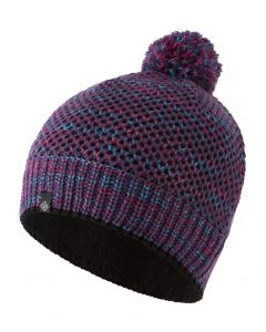 Ronhill Bobble Hat Outdoor Running Thermal Insulator Soft Fleece - Blackberry