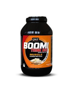 QNT BOOM! Powerful Muscle Mass Advanced Gainer Protein - 3kg White Chocolate