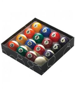 PowerGlide Classic Standard Spots And Stripes Pool Balls 47.5mm - Boxed
