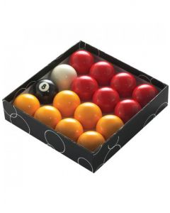 PowerGlide Classic Standard  Red And Yellow Pool Balls 51mm - Boxed