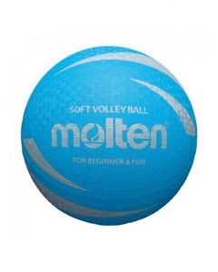 Molten S2V1250-C Soft Touch Non Slip & Non Sting Rubber Blue Volleyball