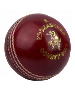 Kookaburra Cricket County Club Ball Hand Stitched 4 Piece Construction 3 Layer