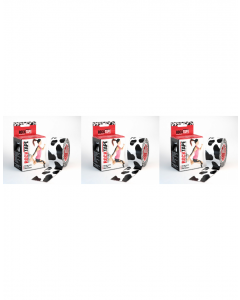 Rocktape Strong Adhesive Kinesiology Tape Patterned Rolls x 3 - Cow