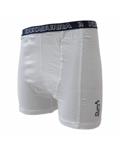 Kookaburra Jock Short White Cotton Comfortable Athletic Insert Pouch Support