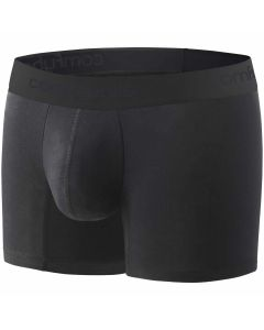 Comfyballs Ghost Black Microfiber Long Boxer Shorts Fitness Training Casual
