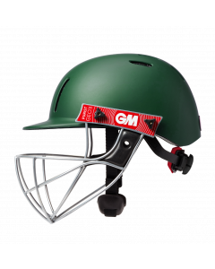 Gunn & Moore GM Cricket Purist Geo II Helmet Sports Head Protection - Green