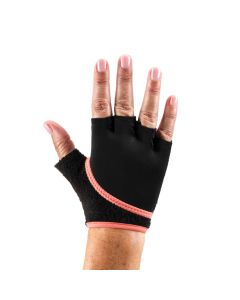 ToeSox Grip Gloves Half Finger Design Yoga Pilates & Multiple Workouts - Coral