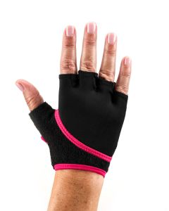 ToeSox Grip Gloves Half Finger Design Yoga Pilates & Multiple Workouts - Fuchsia