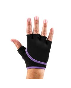 ToeSox Grip Gloves Half Finger Design Yoga Pilates & Multiple Workouts - Purple