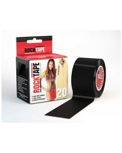 Rocktape H2O Tape Extra Sticky Adhesive Kinesiology Rolls 5M - Black