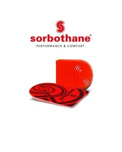 Sorbothane Heel Pads Therapy Antibacterial Sport Injury Prevention Shoe Insert