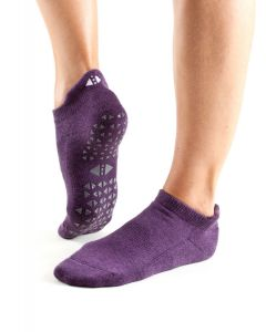 Tavi Noir Savvy Grip Sole Socks Low Rise Yoga Pilates Dance Barre - Lavender