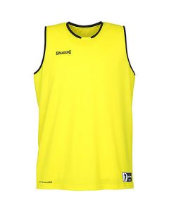Spalding Move Tank Mens Basketball Top FIBA Confirmed Size - Lime Yellow/White