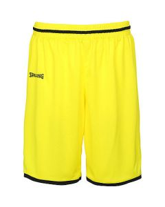 Spalding Move Shorts Mens Basketball Apparel FIBA Confirmed - Lime Yellow/Black