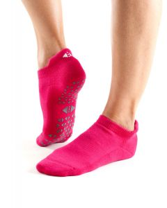 Tavi Noir Savvy Grip Sole Socks Low Rise Yoga Pilates Dance Barre - Magenta