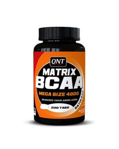 QNT Matrix BCAA 4800 Mega Size Amino Acid Muscle Recovery Supplement - 200 Caps