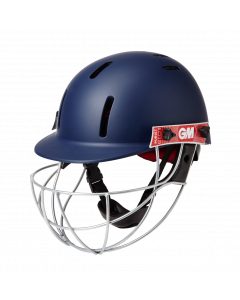 Gunn & Moore GM Cricket Purist Geo II Helmet Sports Head Protection - Navy