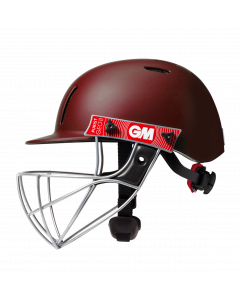 Gunn & Moore GM Cricket Purist Geo II Helmet Sports Head Protection - Maroon