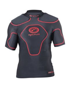 Optimum Sports Origin Removable Padding Full Length Junior Rugby Top - Red