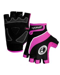 Optimum Sports Nitebrite High Vis Padded Palm Half Finger Womens Cycling Gloves