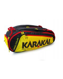 Karakal Pro Tour Elite 12 Racket Bag Sports Equipment Backpack Carry System