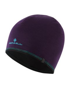 Ronhill Running Outdoor Reversible Hat With Tech Merino Reflective Trim - Purple