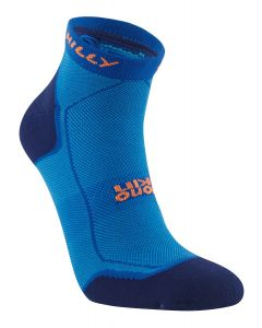 Hilly Pace Quarter Socks Running Cushioning Lightweight Comfort - Azurite