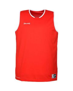 Spalding Move Tank Mens Basketball Top FIBA Confirmed Size - Red/White