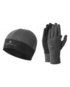 Ronhill Contour Beanie & Glove Set Reflective For Running And Outdoor