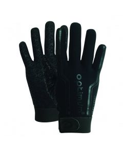 Optimum Sport Velocity Thermal Rugby Gloves Winter Training Insulated Grip-Black
