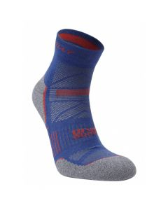 Hilly Supreme Anklet Super Soft Technical Running Socks - Denim/Grey/Marl
