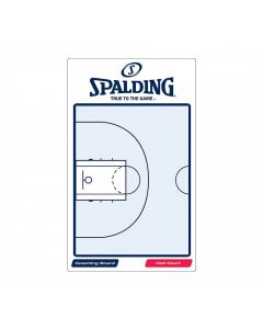 Spalding Basketball Reusable Two-Sided Game Coaching Tactic Board With Marker