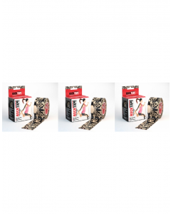 Rocktape Strong Adhesive Kinesiology Tape Patterned Rolls x 3 - Tattoo