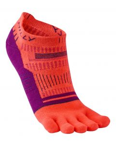 Hilly Toe Socklet Womens Running Training Peformance Socks Cushioned Cuff