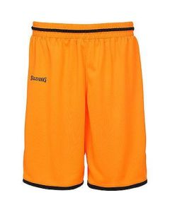 Spalding Move Shorts Mens Basketball Apparel FIBA Confirmed - Dark Orange/Black
