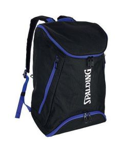 Spalding Backpack Large Basketball & Sports Equipment Rucksack Bag - Black/Royal