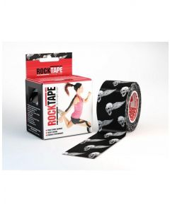 Rocktape Strong Adhesive Kinesiology Tape Patterned Roll - Skull
