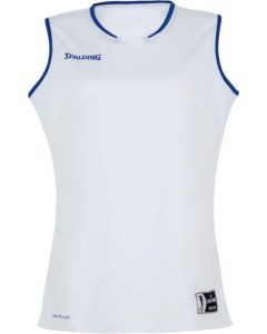 Spalding Move Womens Basketball Tank Top FIBA Confirmed Size - White/Royal