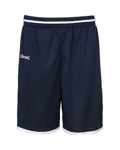 Spalding Move Shorts Mens Basketball Apparel FIBA Confirmed - Navy/White