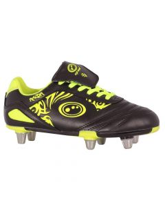 Optimum Sports Razor Light Synthetic Rugby And Football Stud Boots Black/Yellow
