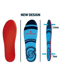 Sorbothane Double Strike Antibacterial CoolMax Trimmable Shoe Trainer Insole