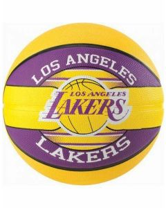 Spalding NBA Team LA Lakers Durable Rubber Cover Outdoor & Kids Basketball