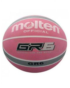 Molten BGR Series Indoor/Outdoor Nylon Wound Pink/Silver 12 Panel Basketball
