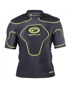 Optimum Sports Origin Removable Padding Full Length Junior Rugby Top Fluro Green