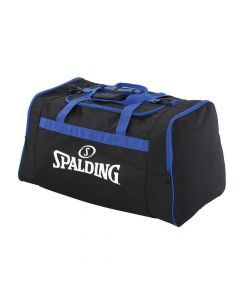 Spalding Team Bag Medium Carry Kit Sportsbag Equipment Holdall - Black/Royal