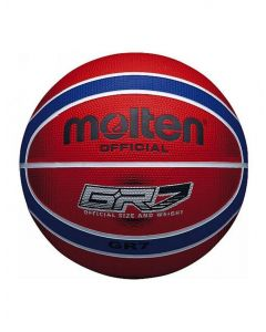 Molten BGR Series Coloured Indoor/Outdoor Red/Blue 12 Panel Nylon Basketball